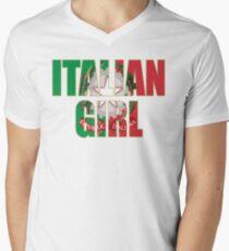 Italian Girl t shirt Men's V-Neck T-Shirt