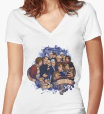 doctor who selfie Women's Fitted V-Neck T-Shirt