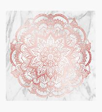 Rose Gold Mandala Star Photographic Print