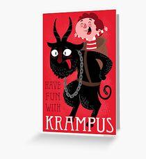 Have fun with Krampus Greeting Card