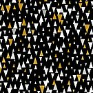Triangle Modern Art - Black Gold by lematworks