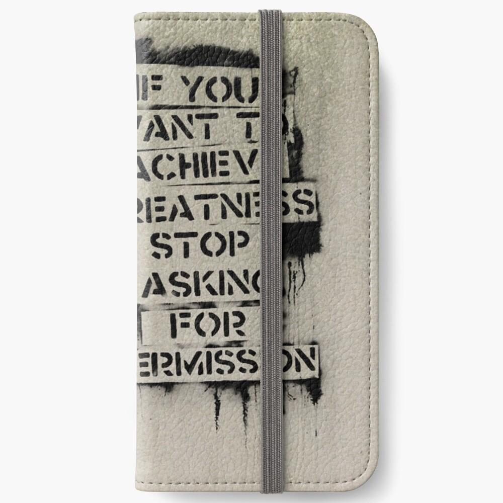 Banksy, greatness iPhone Wallet