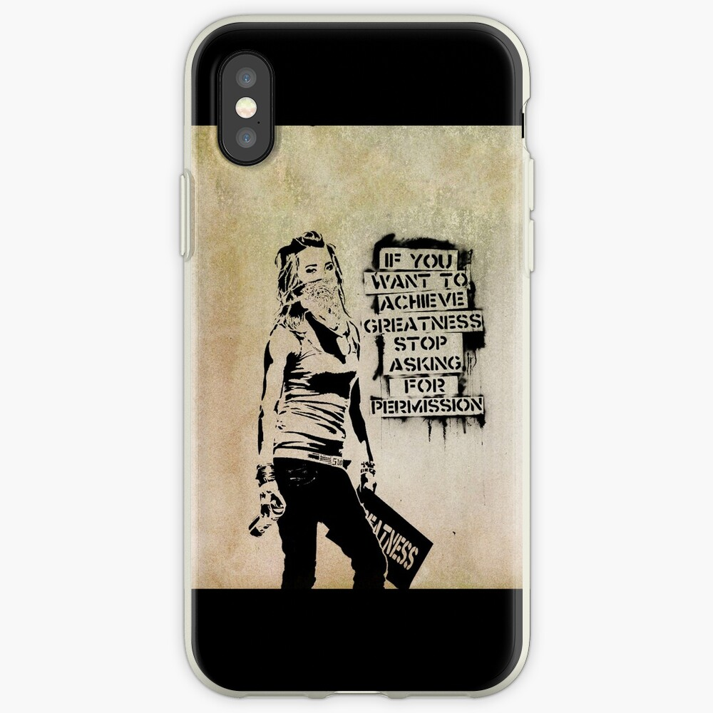 Banksy, greatness iPhone Case & Cover