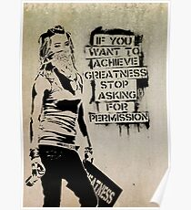 Banksy, greatness Poster