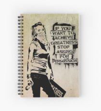Banksy, greatness Spiral Notebook
