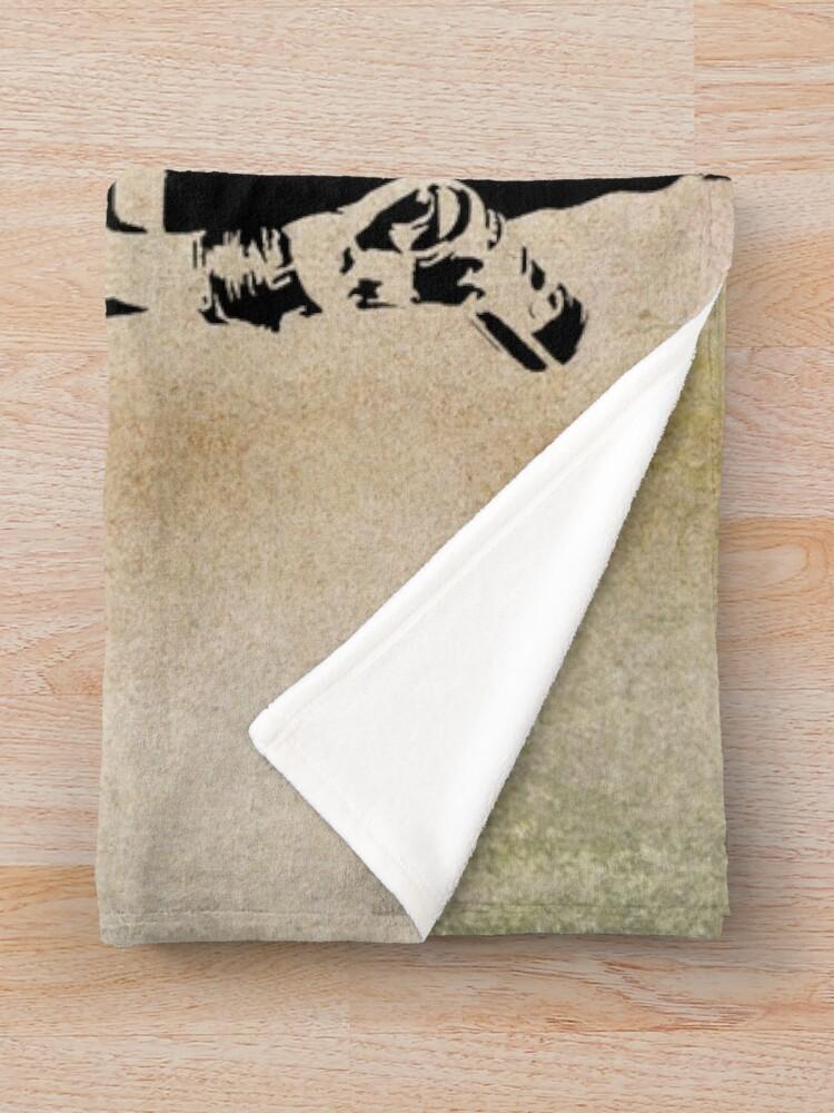Alternate view of Banksy, greatness Throw Blanket