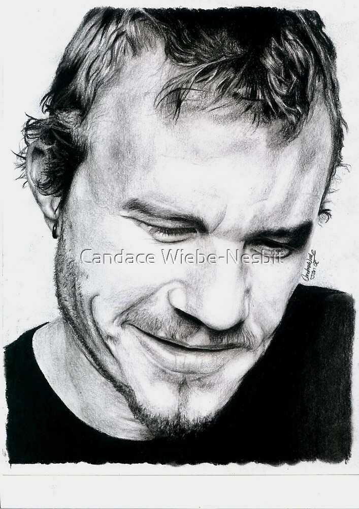Heath Ledger by Candace Wiebe-Nesbit