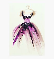 Purple Pretty Princess Gown Photographic Print