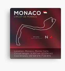 Monaco Racetrack Infographic Canvas Print