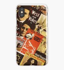 Vintage theatre poster collage iPhone Case/Skin