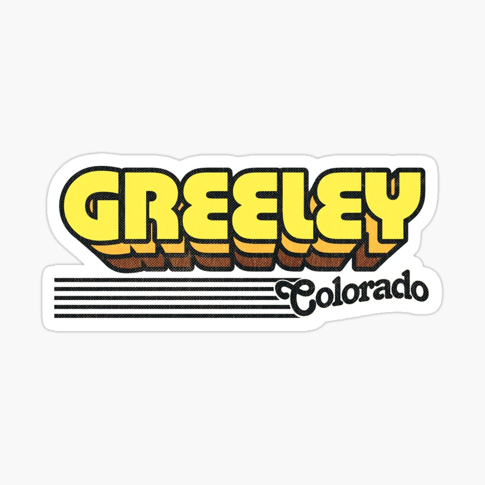 Greeley, Colorado | Retro Stripes Sticker