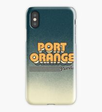 Port Orange, Florida | Retro Stripes iPhone Case/Skin