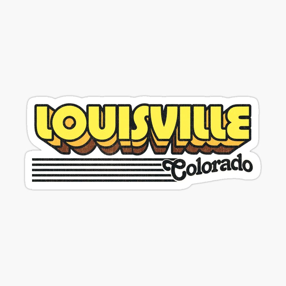 Louisville, Colorado | Retro Stripes Sticker