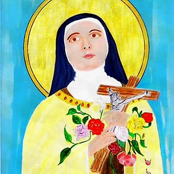 My acrylic painting of St Theresa - The Lady of the Roses  1873 to 1897 by ZipaC