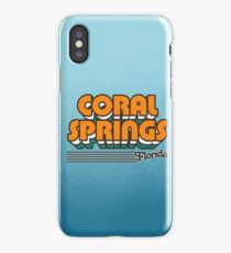 Coral Springs, Florida | Retro Stripes iPhone Case/Skin