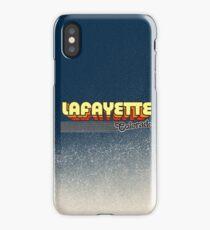Lafayette, Colorado | Retro Stripes iPhone Case/Skin