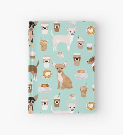 Chihuahua dog breed coffee pupuccino dog art chiwawas chihuahuas gifts Hardcover Journal