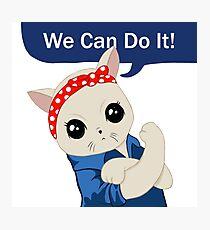 Feminist Cat Photographic Print