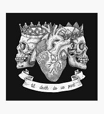 'Til Death Do Us Part, Life and Death Illustration Photographic Print