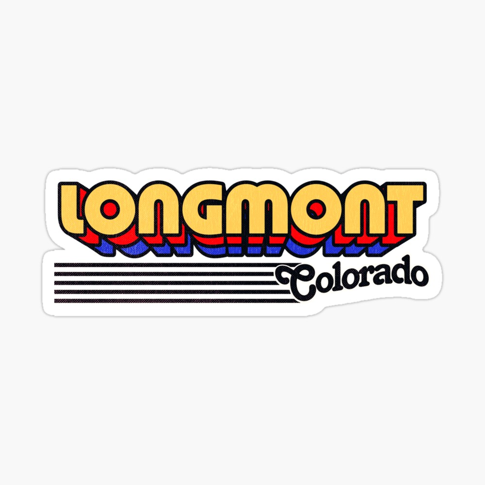 Longmont, Colorado | Retro Stripes Sticker