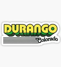 Durango, Colorado | Retro Stripes Sticker