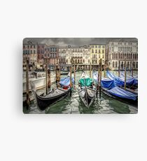 Rainy day on The Grand Canal in Venice Canvas Print