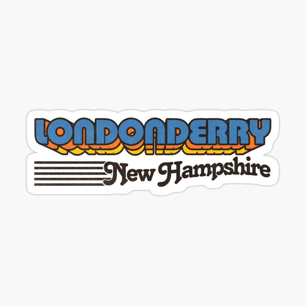 Londonderry, New Hampshire   Retro Stripes Sticker