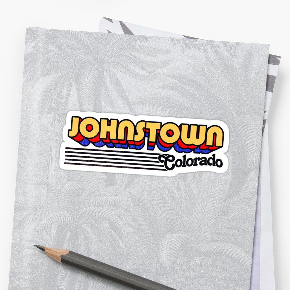 Johnstown, Colorado | Retro Stripes Sticker