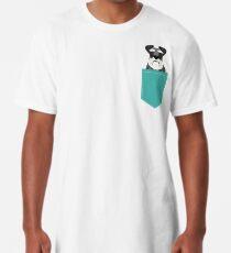 Camiseta larga Regalos lindos de la cabeza de perro del Schnauzer para los amantes de los schnauzers arte de la raza del perro