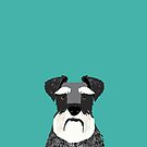 Schnauzer dog head cute gifts for schnauzers lovers dog breed art by PetFriendly