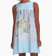 ..three of a kind ...the Arctic Wolf...  A-Line Dress