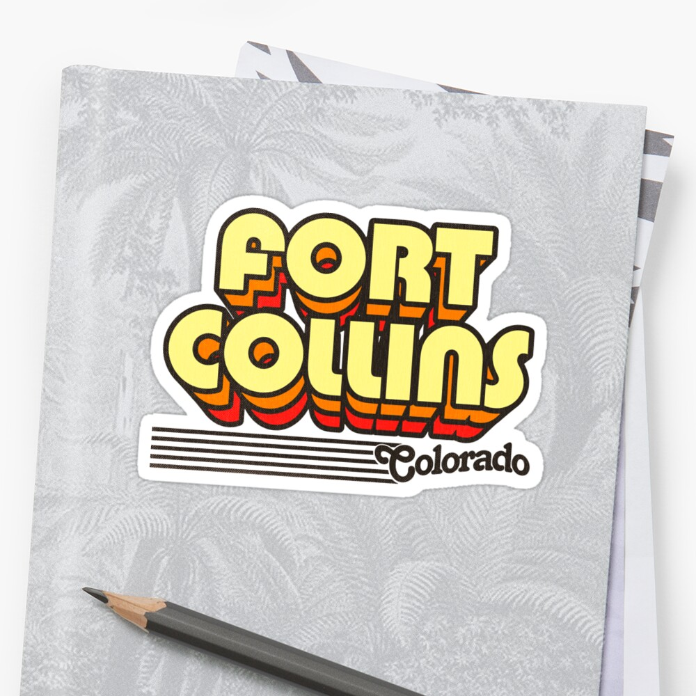 Fort Collins, Colorado | Retro Stripes Sticker