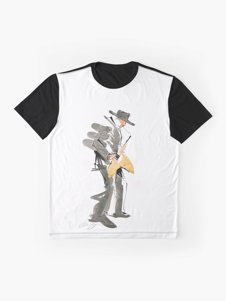 Alternate view of Musician Jazz Saxophone Graphic T-Shirt