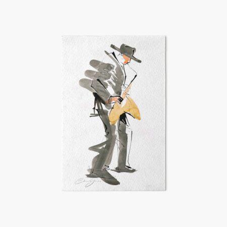 Musician Jazz Saxophone Art Board Print
