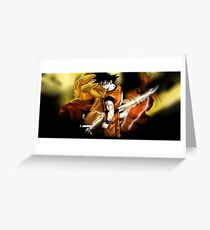 goku transformation mode dragonball z Greeting Card