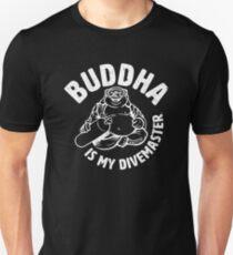 Buddha is my Divemaster- Light print on dark T-Shirt