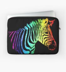 Rainbow Zebra Laptop Sleeve