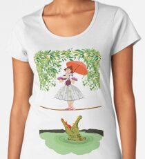 Cute halloween The crocodile girl Deadly circus Women's Premium T-Shirt