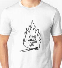 "match illustration ""fire walk with me"" Unisex T-Shirt"