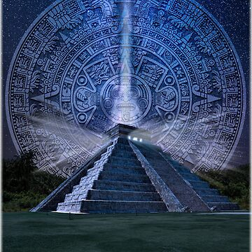 Chichen Itza Mexico Mexican Pride Seven Wonders of The World Mayan Calendar Maya Temple Pyramid Mystical by DooodleGod