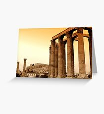 Temple of Olympian Zeus  Greeting Card