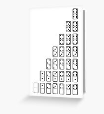 Black and white Domino symbols Greeting Card