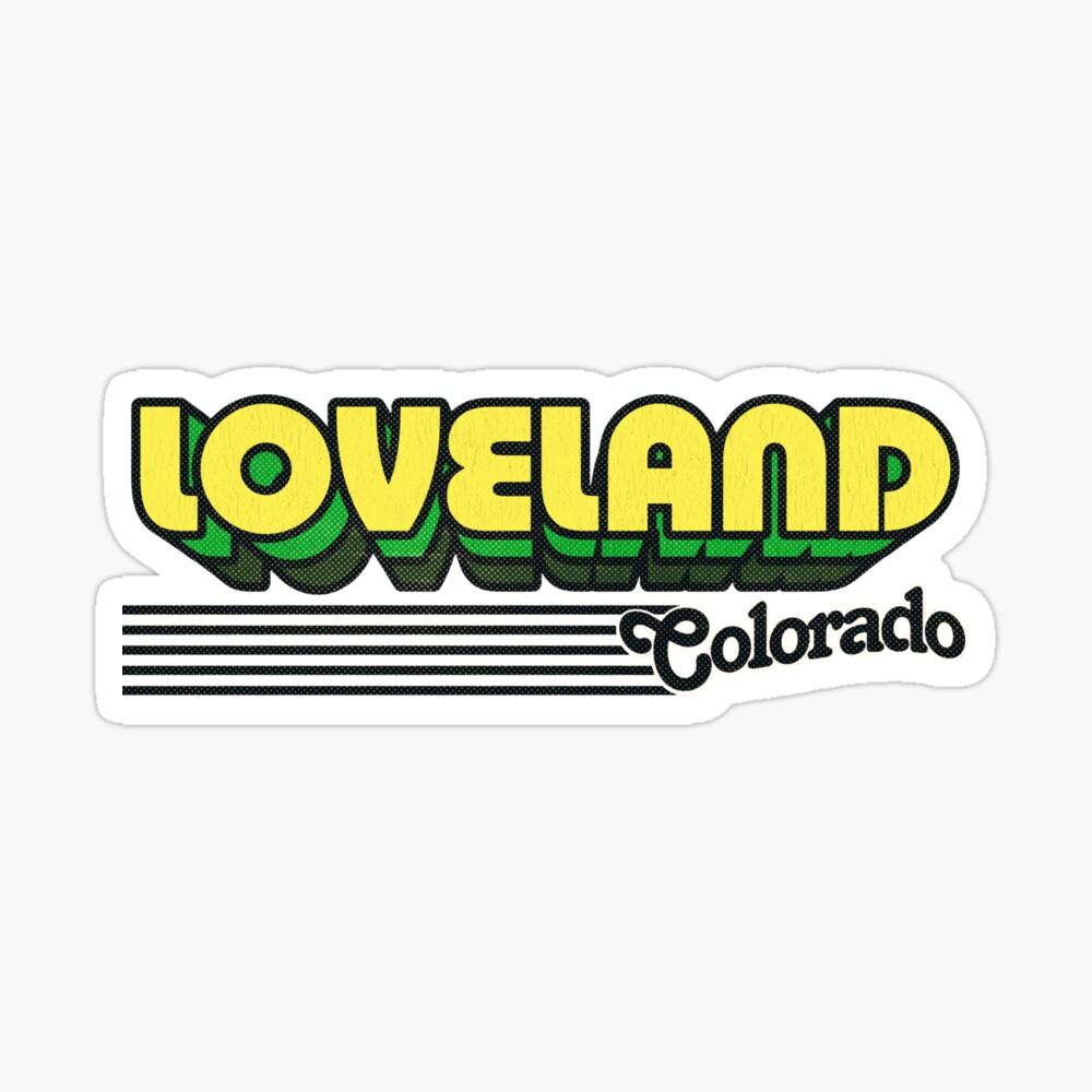 Loveland, Colorado | Retro Stripes Sticker