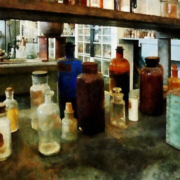 Chemistry - Assorted Chemicals in Bottles by SudaP0408
