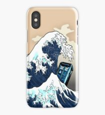 Phone booth vs The Great wave iPhone Case/Skin