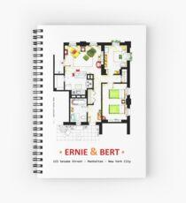 Floorplan of Ernie & Bert's apartment from Sesame St Spiral Notebook