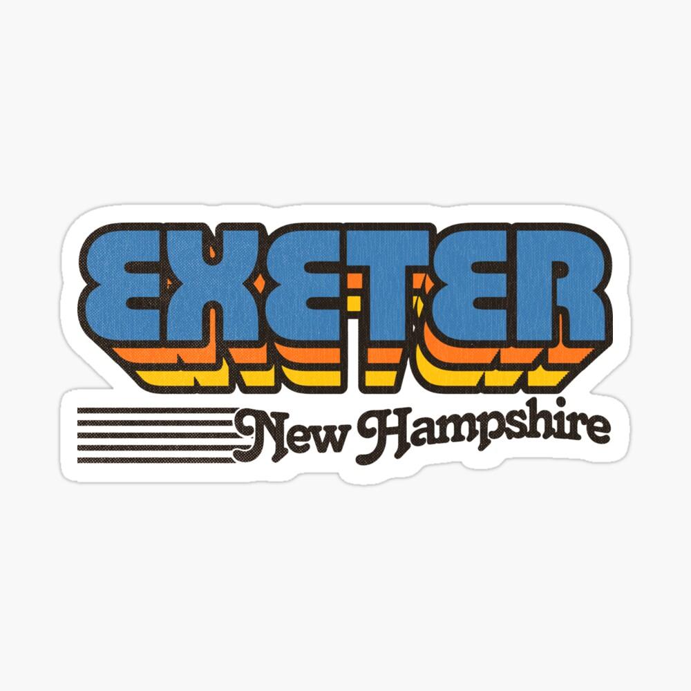 Exeter, New Hampshire   Retro Stripes Sticker