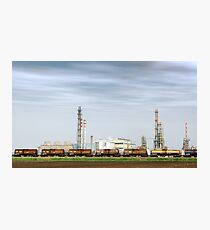 Heavy industry factory with train tanks Photographic Print