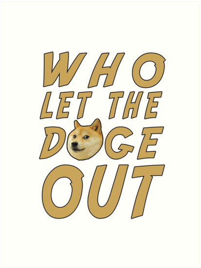 WHO LET THE DOGE OUT