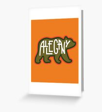 Allegany State Park - Bear Greeting Card